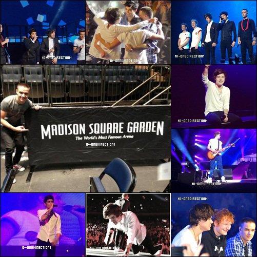 Les Garçons étaient au Madison Square  Garden Hier (03.12.2012)