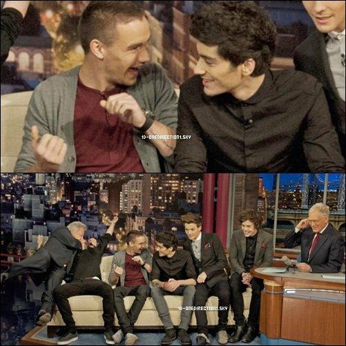 les boys - The Late Show avec David Letterman (07.12.12)