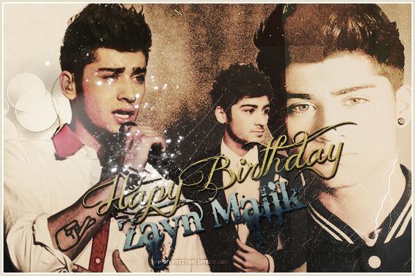 Happy Birthday Zayn Malik Qui fête aujourd'hui c'est 20 ans