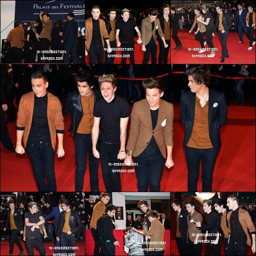 Les One Direction sur le Tapis Rouge des NRJ Music Awards (26.01.2013)