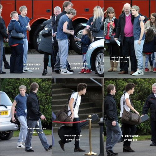 Les Garçons quittant l'hôtel de Glasgow (27.02.2013