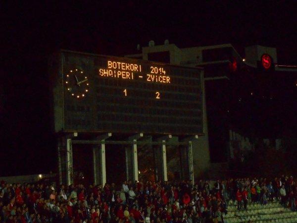 Albanie-Suisse 1-2: Qemal Stafa Stadion, Tirana. Le 11 octobre 2013