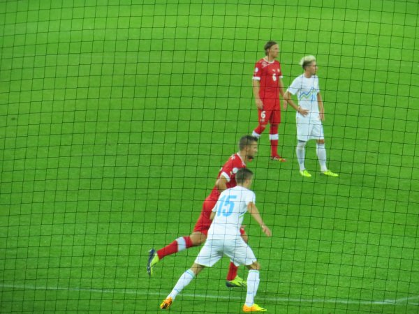 Suisse-Slovénie 1-0: Stade de Suisse, Berne