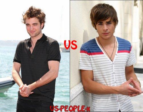3 - Robert Pattinson VS Zac Effron