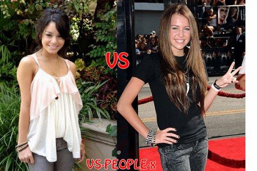 4 - Vanessa Hudgens VS Miley Cyrus