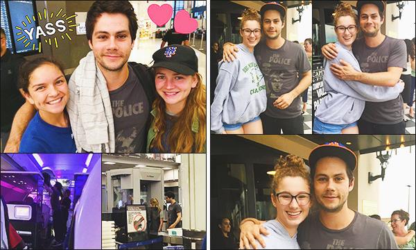.14.07.17 ▬ Dylan a été vu par des fans dans un aéroport en compagnie de sa petite amie Britt Robertson  On ne sais pas quel Aéroport, mais Dylan prend le temps de poser avec ses fans et il est joyeux. Enfin quelque photos en compagnie de britt! Avis?