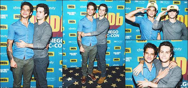 .20.07.17 ▬ Après avoir profité du Comic con, Dylan et ses co-stars était sur le très célèbre bateau IMDB  Toujours dans une ambiance festif, il s'agit des dernières interviews concernant la série puisque les 10 derniers épisodes arrive à grand pas ! Avis?
