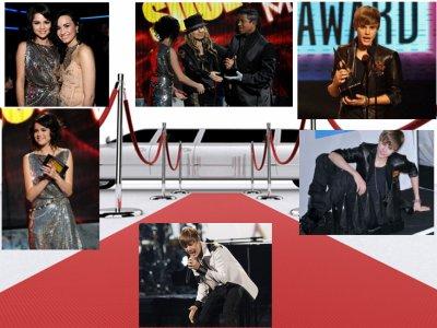 Photos de Justin Bieber et de Selena Gomez au American Music Awards