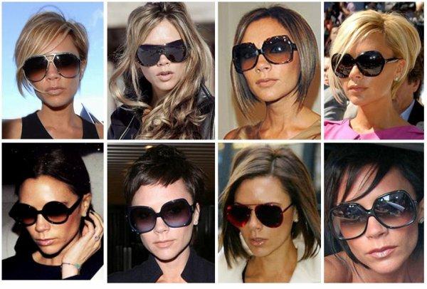 Victoria Beckham est une adepte des lunettes! En mode soirée, décontracté  ou shopping Posh ne sort pas sans une paire de lunettes de soleil pour  combattre ... f6660b94f4c4