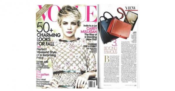 Les sacs de Victoria dans le Vogue américain !