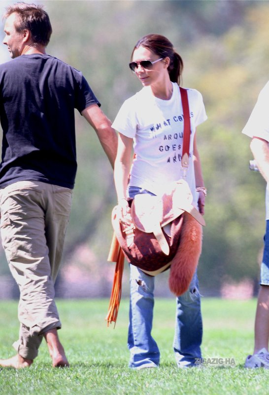 Victoria au cours de football de son fils Brooklyn - L.A. - 19.09.2010