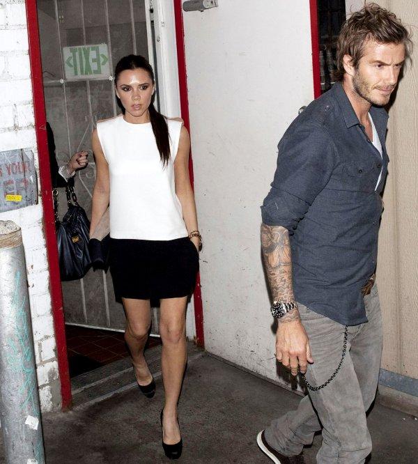 Victoria & David Beckham au restaurant Angelini Osteria à L.A.