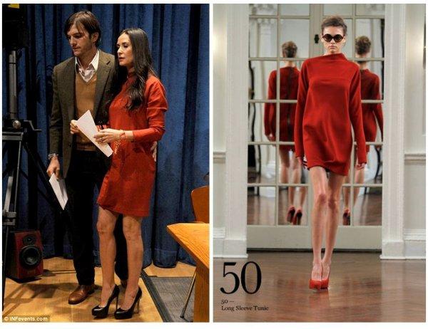 Demi Moore adepte des robes Victoria Beckham !