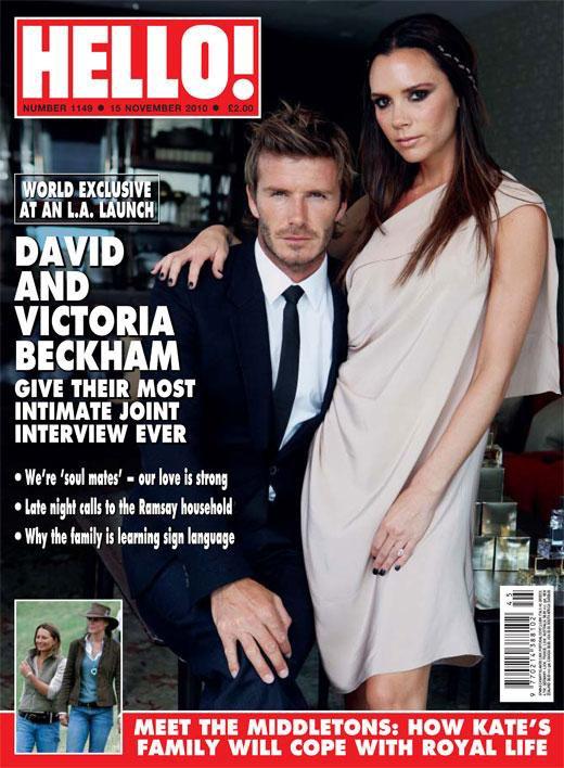 David & Victoria Beckham se confient au magazine Hello !