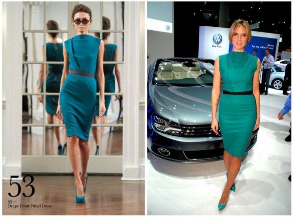 Heidi Klum en Victoria Beckham pour le lancement de la Volkswagen Eos 2012