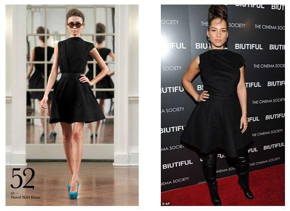 Alicia Keys habillée en Victoria Beckham pour l'avant première de Biutiful !