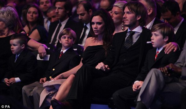 La famille Beckham aux BBC Sports Personality of the Year Awards