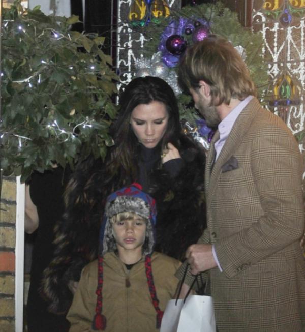 La famille Beckham invitée chez les Ramsey pour un réveillon anticipé