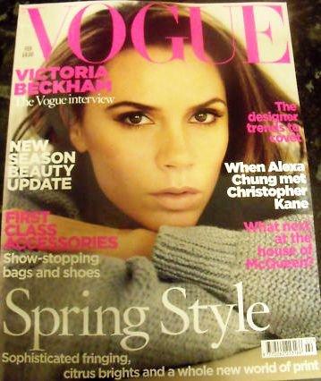 10ème couverture de Vogue pour Victoria Beckham