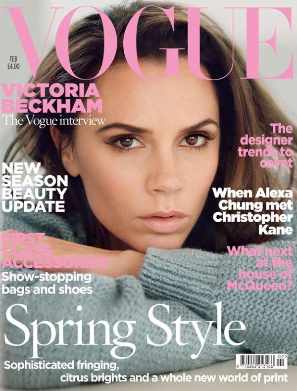 Victoria Beckham franche et naturelle pour le Vogue britannique