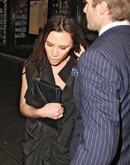 David & Victoria Beckham à la fashion week de Londres