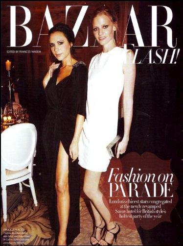 Victoria Beckham dans le Harper's Bazaar britannique