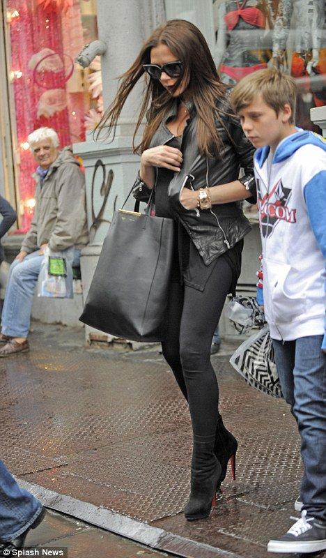 Victoria Beckham et ses fils à New York