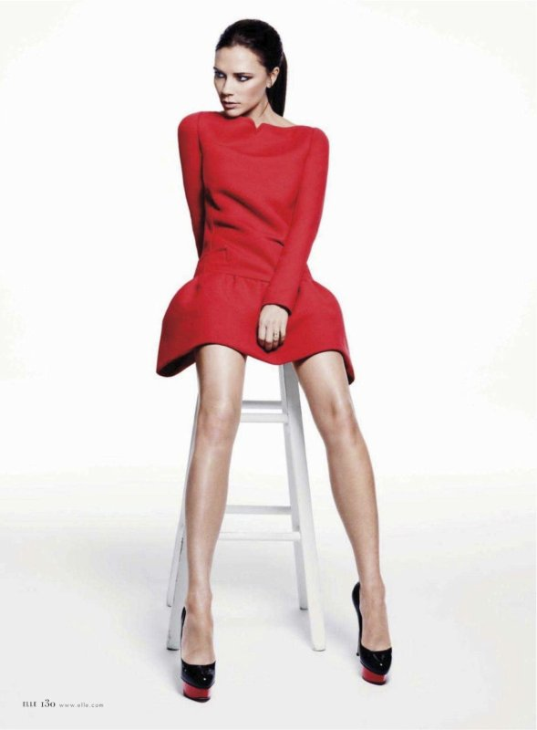 VICTORIA BECKHAM - ELLE MAGAZINE US - JANUARY 2012