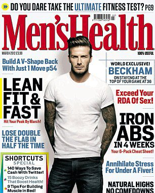 DAVID BECKHAM IN MEN'S HEALTH MAGAZINE