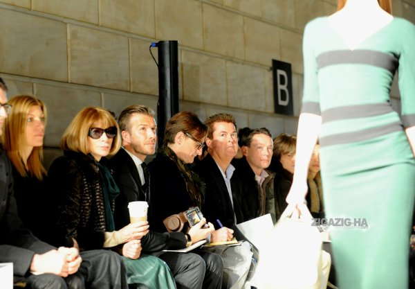 THE BECKHAM FAMILY AT THE NEW YORK FASHION WEEK AW12