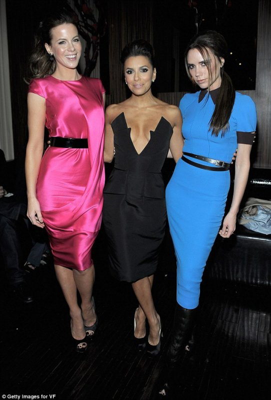 VICTORIA BECKHAM, EVA LONGORIA & KATE BECKINSALE - VANITY FAIR & CHRYSLER PARTY FOR THE EVA LONGORIA FOUNDATION - BESO - 23.02.2012 - LOS ANGELES