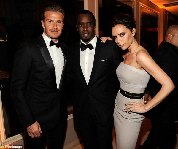 THE BECKHAM AT THE VANITY FAIR OSCAR PARTY 2012