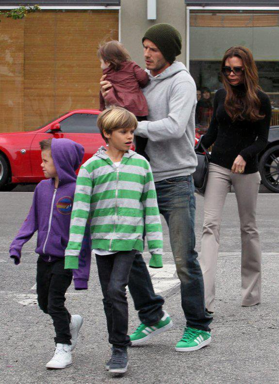 BECKHAM FAMILY - LOS ANGELES - 17.03.2012
