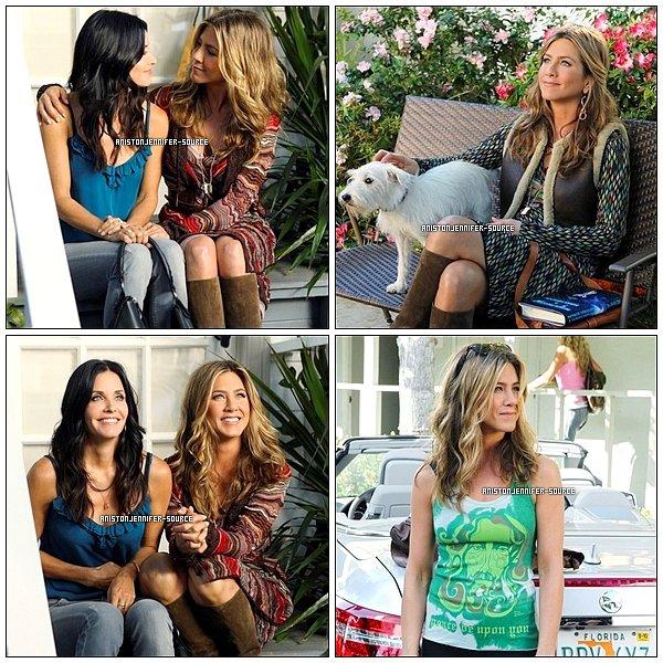 . Première images de la série Cougar Town aux cotés de sa meilleure amie Courteney Cox.  .