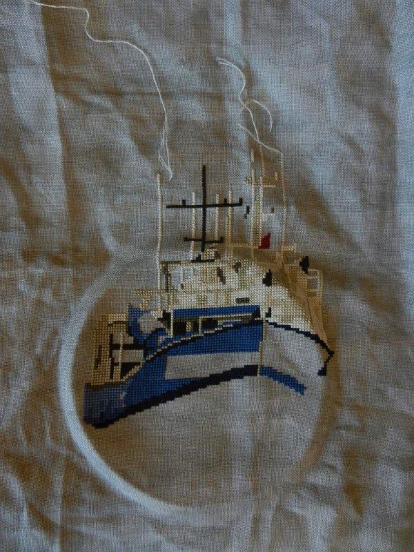Avancée de mon beau bateau et Petite découverte...