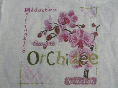 Belle orchidée... terminée ^^