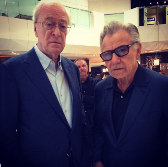 Michael Caine, Harvey Keitel in Cannes today