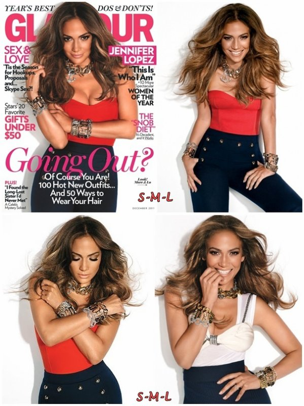 Jennifer Lopez for Glamour US December 2011