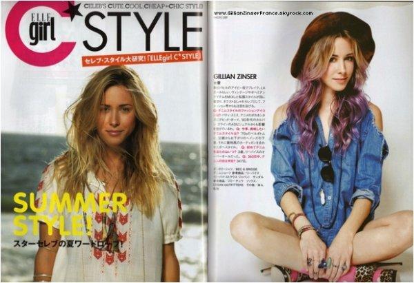 Scans du magazine ELLE GIRL JAPAN.