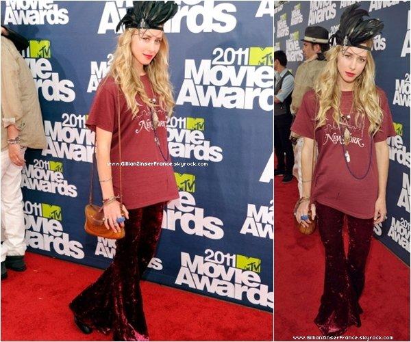 05 juin : Gillian au MTV Movie Awards.