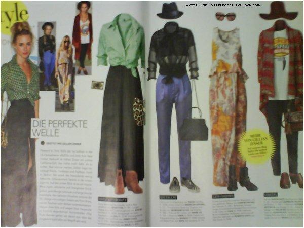 """Gillian dans le magazine suisse """"Style""""."""