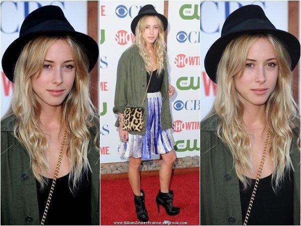 03 août : Gillian à la soirée organisée par CBS, la CW et Showtime pour les Teen Choice Awards.