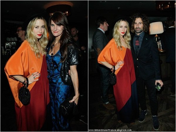 "10 novembre : Gillian à la ""Night Of Cocktails And Dancing"" organisée par Lisa Love And Tommy Hilfiger."