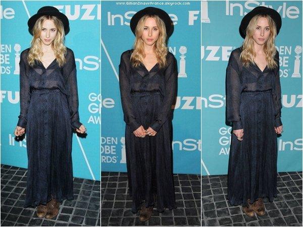 """08 décembre : Gillian à la soirée """"A Night Of Firsts"""" organisée par InStyle."""