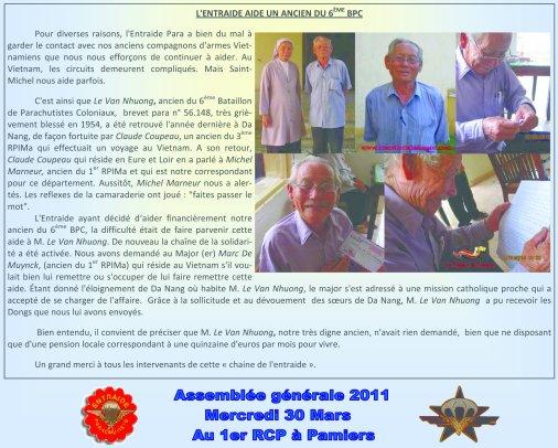Une chaîne de solidarité pour un vieux soldat oublié... (6°BPC - Marcel Bigeard)