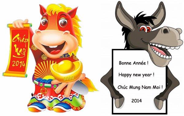 Bonne Année du Cheval !  Chúc Mừng Nǎm Mới 2014 !