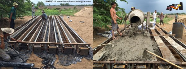 Les travaux de construction de l'orphelinat