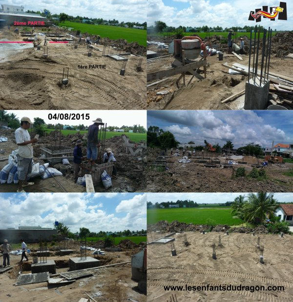 Travaux de construction de l'orphelinat