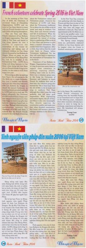 Lu dans la presse vietnamienne.