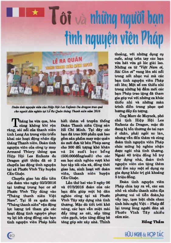 Presse Vietnamienne - Province de Long An